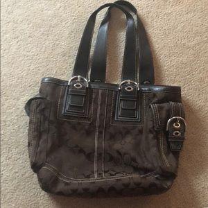 Brown Coach Tote Bag